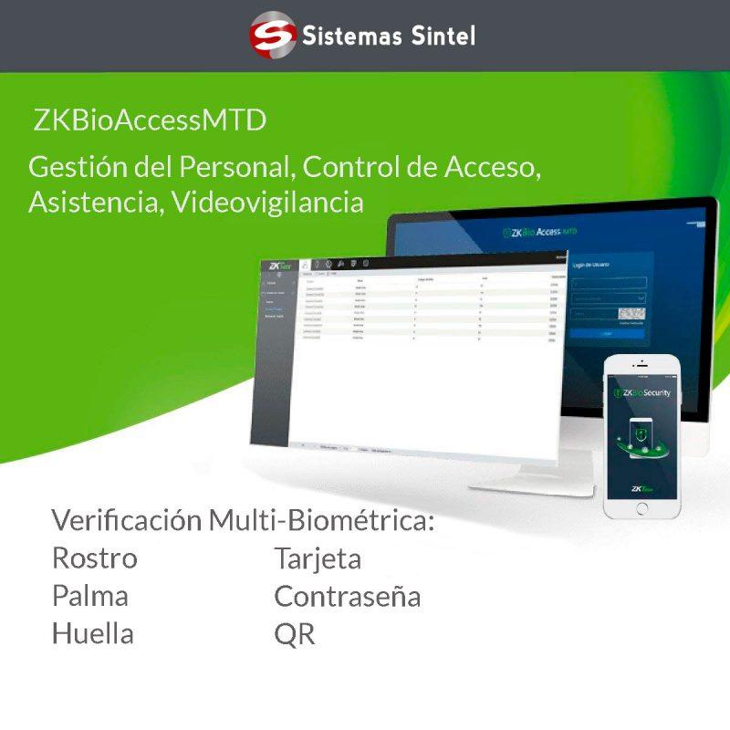 ZKBioAccessMTD es una plataforma de seguridad basada en web para la asistencia y el acceso | Sistemas Sintel