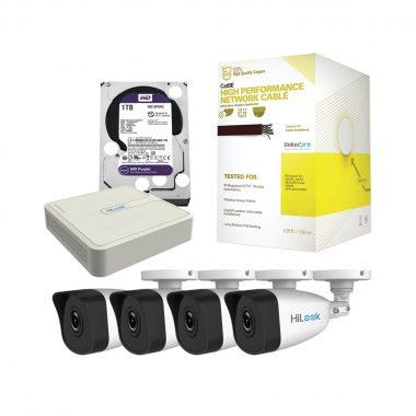 NVR NVR-104H-D/4P (4 canales de video + 4 puertos PoE integrados / compatible con la plataforma Hik-Connect P2P
